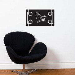 Adhesive Blackboard wall decals - Black Liana
