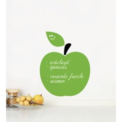 Adhesive Blackboard wall decals - Green apple
