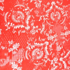 COZY Wide-width brushed cotton - Tapestry - orange