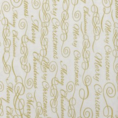 DECK THE HALLS - Printed cotton -  Writing - Beige