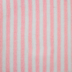 BAMBINO Terry Knit - Stripe - White / Pink
