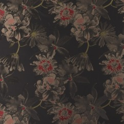 BOUFFANT Brocade - Black / Red