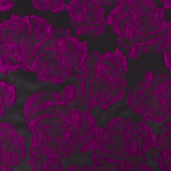 BOUFFANT Brocade - Black / Fushia