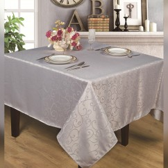 Jacquard Water repellent Tablecloth, Square - Silver