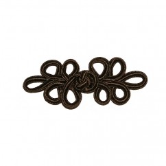 ELAN Frog Fastener - Brown -1 pcs