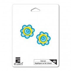 ELAN Motif - Aqua Flower - 32mm -1 pcs
