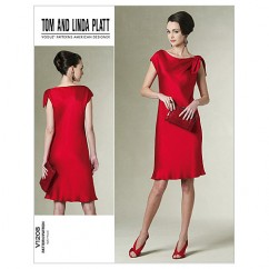 V1208 - Misses'/Misses' Petite Dress (size: 14-16-18-20)