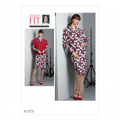 V1575 Misses' Dress and Top (size: All Sizes in One Envelope)