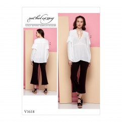 V1618 Misses' Tunic and Pants (size: 14-16-18-20-22)
