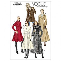 V8346 - Misses' Coat (size: 12-14-16)