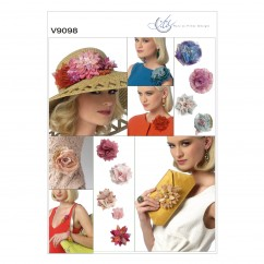 V9098 - Flowers and Clutch Purse (size: One Size Only)