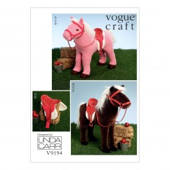 V9194 Plush Doll Horses with Saddle, Bridle and Blanket (size: One Size Only)