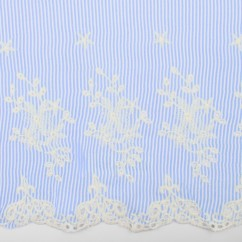 CARMEN Embroidered Rayon - Blue