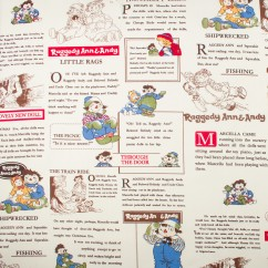 CANVAS Printed Cotton - Raggeddy Ann and Andy - Ivory