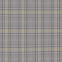 GENESIS Stretch Suiting - Plaids - Grey / Yellow