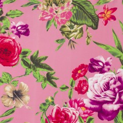 BLOSSOMY Stretch Sateen - Florals - Pink / Purple
