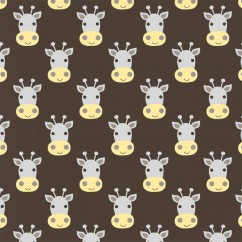 Windham Fabrics - STAND TALL Printed Cotton - Giraffe head - Brown
