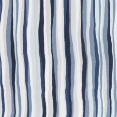 BEAR HUGS printed cotton - Stripes - Blue