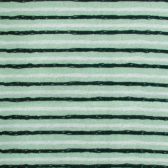 BAMBOO BLEND Printed Flannelette - Stripes - Green
