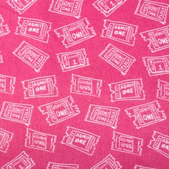 BAMBOO BLEND Printed Flannelette - Tickets - Pink