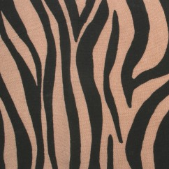 Feline Printed Rayon - Zebra - Brown