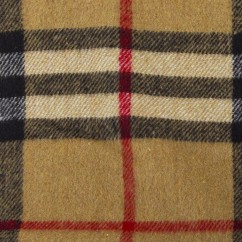 Kashmir Plaid Jacketing - Burberry - Brown