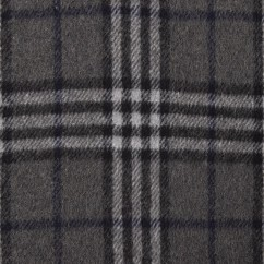 Kashmir Plaid Jacketing - Plaid - Grey / Blue
