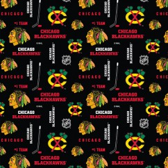Chicago Blackhawks - NHL Cotton Print - Logo