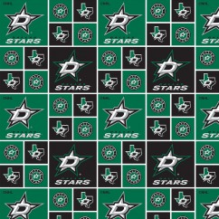 Dallas Stars - NHL Cotton Print - Squares