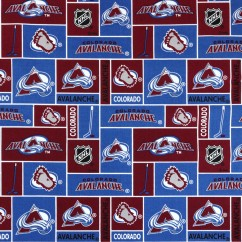 Colorado Avalanche - NHL Cotton Print - Patchwork