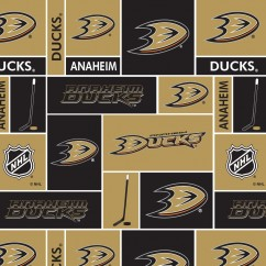 Anaheim Ducks - NHL Cotton Print - Patchwork