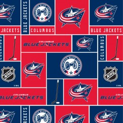 Colombus Blue Jackets - NHL Fleece Print - Patchwork