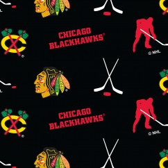 Chicago Blackhawks - NHL Fleece Print - Logo