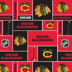 Chicago Blackhawks - NHL Fleece Print - Patchwork