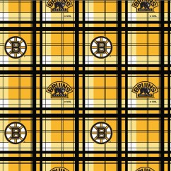 Boston Bruins - NHL Fleece Print - Plaid
