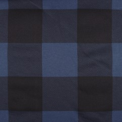 Organic Sweatshirt fleece - Buffalo check - Blue / Black