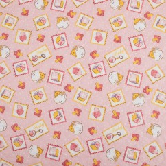 Quilted Vinyl - Baby pacifier - Pink