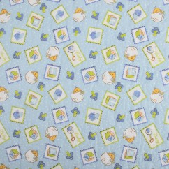 Quilted Vinyl - Baby pacifier - Blue
