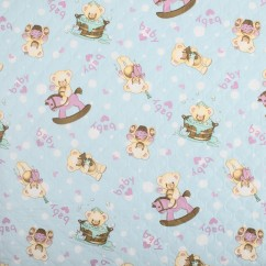 Quilted Vinyl - Teddy - Blue