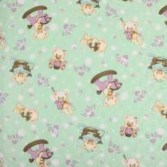 Quilted Vinyl - Teddy - Green