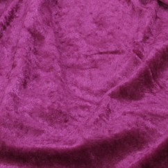 Crushed Panne Velour - Magenta