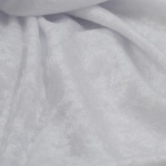 Crushed Panne Velour - White