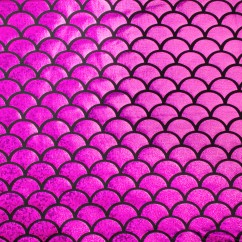 Metallic Knit - Mermaid scale - Fushia