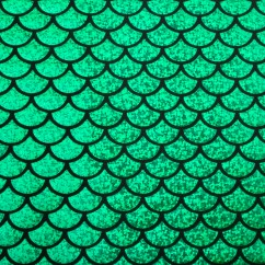 Metallic Knit - Mermaid scale - Green