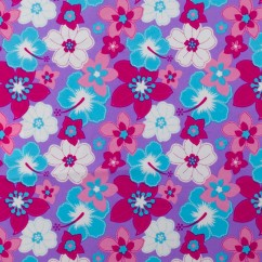 Bathing Suit Print - Florals - purple