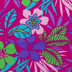 Bathing Suit Print - Florals - Fushia