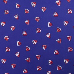 Bathing Suit Print - Sailboats - Blue