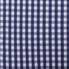 Bathing Suit Print - Checks - Navy / White