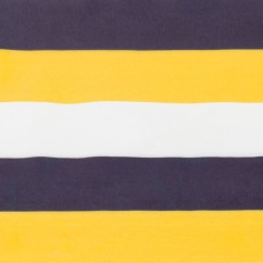 SPLASH Rainwear Fabric - Stripes - Navy / Yellow