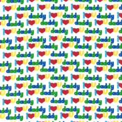 Abbey Printed Flannelette - I Love You - Green